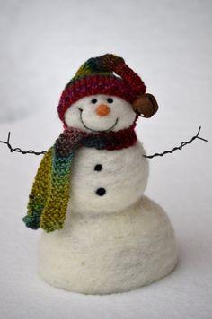 Needle Felted Snowman by Teresa Perleberg