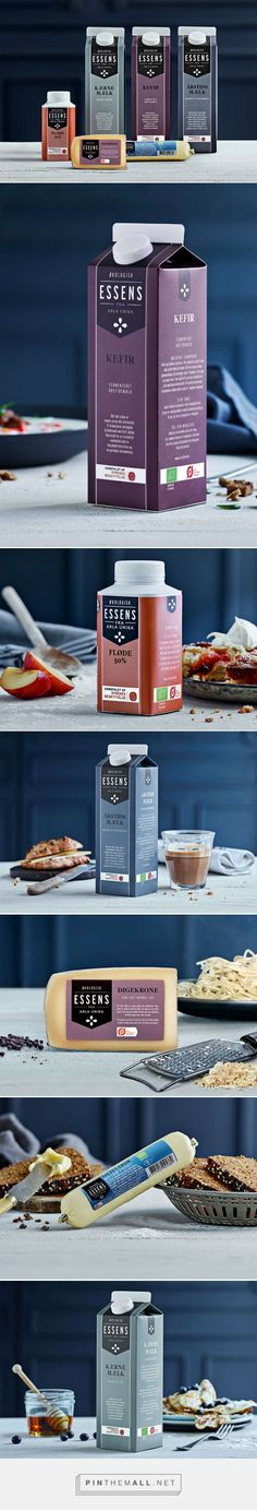 Branding and packaging for Essens on Behance by Bessermachen DesignStudio Copenhagen, Denmark curated by Packaging Diva PD. Simple but effective color coded design.
