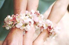 wrist corsage - bridesmaids