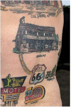 Travel inspired tattoos - this gives me good ideas for some tattoos of my Maine to California road trip.