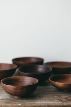 These lovely reclaimed Walnut bowls have some particularly stunning and distinctive grain markings. Hand turned in London by Forest and Found who create products that celebrate craftsmanship in the modern home.