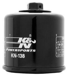 K KN-138 Powersports High Performance Oil Filter