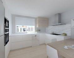 proyectos de cocina en madrid Kitchen Cabinet Design, Kitchen Interior, Interior Design Living Room, Kitchen Decor, Kitchen Living, New Kitchen, Cocina Shabby Chic, Kitchen Colors, Home Kitchens