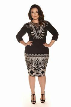 Curvy Inverno 2017 - Fascinius Moda Evangélica Plus Size Dresses, Plus Size Outfits, Nice Dresses, Formal Dresses, Curvy Girl Fashion, Plus Size Fashion, African Fashion Traditional, Plus Size Summer Outfit, Modelos Fashion