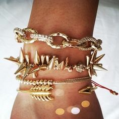 #armcandy #gold #jewelryinspiration #STYLECABLE