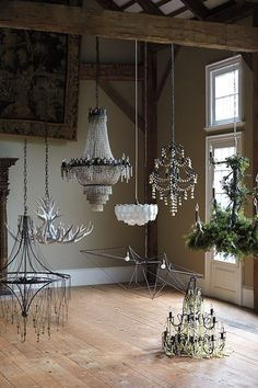 The new Anthropologie chandeliers are killing me.   I want one of each, please.