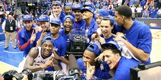 The Kansas Jayhawks are the Big 12 Champs for the year in a row! Kansas Basketball, Basketball Teams, Go Ku, University Of Kansas, Kansas Jayhawks, Athlete, Coaching, Baseball Cards, Sports