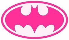 Batgirl Bat Girl PINK Iron On T Shirt / Pillowcase Fabric Transfer #1