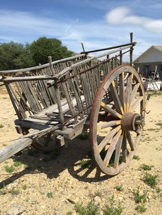 Rustic wooden wagon at days of vintage in Yarnell Arizona
