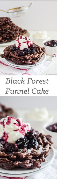 Black Forest Funnel Cake
