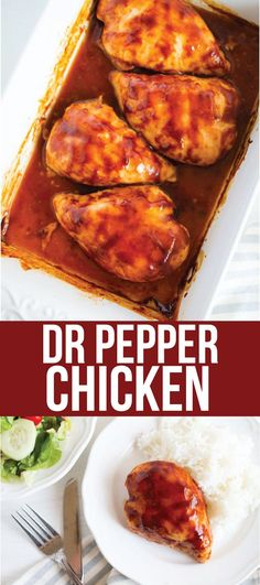 Food: Dr. Pepper Chicken - an easy dinner recipe made with just a few ingredients from www.thirtyhandmadedays.com