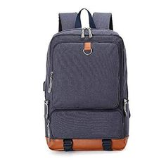 newest 469e0 f89a0 Amazon.com  Military Inspired Laptop Backpack School Travel Hiking Sling  Bags USB Charging Port