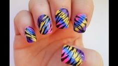 Nail Tutorial, 80's Zebra--YouTube Video by Dollface22772