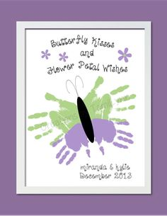 Butterfly Handprint Art for 1 or 2 Sets of by CreationsbyTamiLynn, $20.00