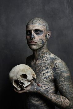 Image of Rick Genest Cover Shoot for Rebel Ink Magazine