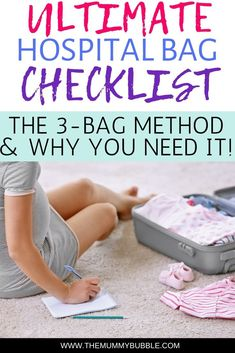 Wondering what you need to pack in your hospital bag? Here is the ultimate checklist to ensure you miss nothing out! This is also a guide to how to pack your hospital bag to ensure you are organised for the birth! The 3-bag method is the very best way of keeping all of your stuff right where you need it! #hospitalbag #givingbirth #pregnancy