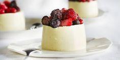 Boodschappen - Panna cotta van witte chocolade met bosvruchten