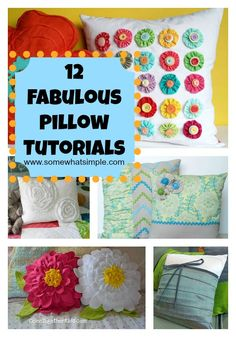 12 Fabulous Pillow Tutorials on Somewhat Simple