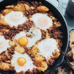 Baked #Eggs with #Chorizo and #Potatoes