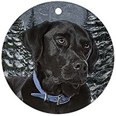 Cafepress Black Lab Christmas Ornament Round Round Holiday Christmas Ornament