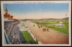 Covington KY Latonia Race Track Horses Grand Stand Horse