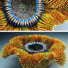 I suppose that's one way to use a #colorpencil  Here's a bit of #humpday inspiration. #Artist Jennifer Maestre makes profound #sculptures from #color #pencils, like this one, named Aurora. #arthistory #funfact #inspiration #smartart #creative #beautiful  #subscriptionbox