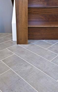 Floor-Tile and color combo for main floor bathroom? Sticks And Stones, Colour Combo, Basement Ideas, Floors, Tile Floor, Nest, Household, Sweet Home, House Ideas