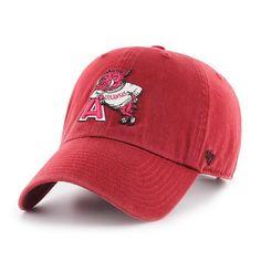 save off bb7ad acc40 Arkansas Razorbacks 47 Brand Red Vintage Retro Clean Up Adj. Slouch Hat Cap