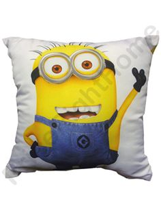 This official Despicable Me cushion is ideal for any fan of the series and features a different design on both sides! One side features a happy minion giving a thumbs up, whilst the other displays a close up of a smiling minion's face! Snap one up today!