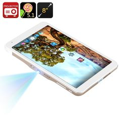8-inch Screen 5.1 Android Tablet PC Mini 50 Lumen Projector 30-120 inches