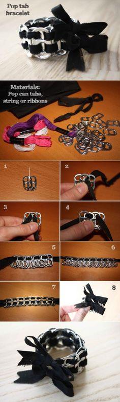 Bracelet en tirettes de canettes de soda