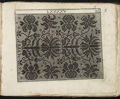 Model Buch : Teil ~ c. 1660 (Fürst, Paul, ca. Cross Stitch Designs, Cross Stitch Patterns, Beading Patterns, Knitting Patterns, Folk Embroidery, Chart Design, Models, Cross Stitch Flowers, Filet Crochet