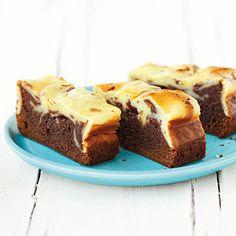 Käsesahne-Brownies #kuchen #cake