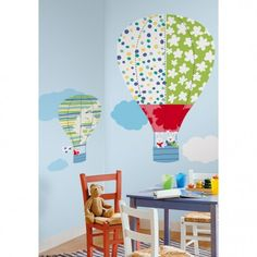 Hot Air Balloons MegaPack | RoomMates Peel and Stick Décor