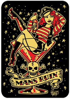 Vince Ray Mans Ruin Tshirt - Modern Grease Clothing and Accessories Co. AVAILABLE @ Modern Grease Clothing & Accessories Co.