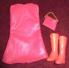 Vintage Baribe Hot Pink Mod Dress Hot Pink Boots and Matching Purse   eBay