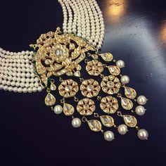 Pearl and kundan jewellery
