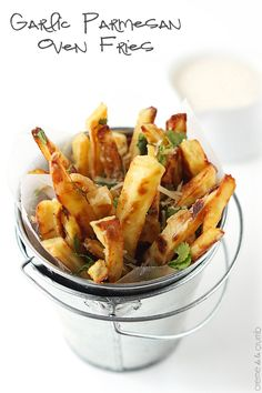 Easy crispy oven-baked fries with an Italian flair!