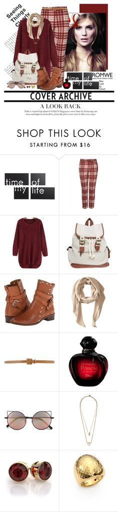 """""""Romwe - Red Sweater"""" by claudia-nunes04 ❤ liked on Polyvore featuring Umbra, Topshop, Wet Seal, See by Chloé, Calvin Klein, Tara Jarmon, Christian Dior, Linda Farrow, Zimmermann and Roberto Coin"""