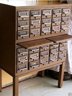 Always wanted an old school card catalog