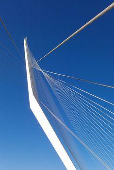 Santiago Calatrava Chords Bridge in Jerusalem