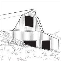 line drawing of barn he fills my cup charlottes web free printable coloring pages - Barns Coloring Pages Farm Silos