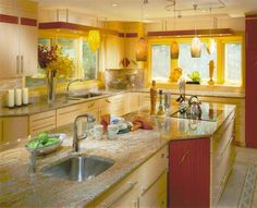 Red And Yellow Kitchen Be Sure To See Our Creative Home Decor Ideas At Www Creativehomedecorations