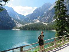 Questo è il lago di #Brayes e lei è Alessandra Panozzo #EstateQVC #TrentinoAltoAdige #ValPusteria