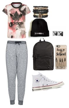 """""""Untitled #100"""" by deborahoyetunde ❤ liked on Polyvore featuring adidas Originals, Topshop, Converse, Jagger, Casetify, Waterford and Samantha Wills"""