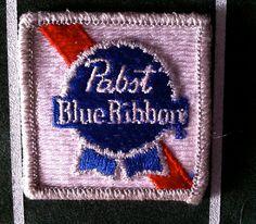 Pabst blue ribbon NOS patch. $10.00, via Etsy.