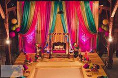 Indian & Pakistani wedding planning resource: wedding photography, Indian wedding timelines, Indian wedding decor and wedding dresses Desi Wedding Decor, Indian Wedding Decorations, Stage Decorations, Wedding Mandap, Indian Weddings, Wedding Backdrops, Wedding Table, Rustic Wedding, Mehndi Stage Decor