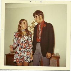 Vintage Old Photo Young Teenagers Couple 1970's Retro Fashion Dress Shorts Corts | eBay