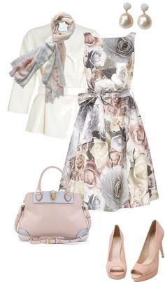 """""""spring roses"""" by sagramora ❤ liked on Polyvore"""