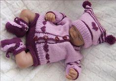 Keira Baby Girl PDF Knitting by PreciousNewbornKnits on Etsy, $7.00  I love purple!